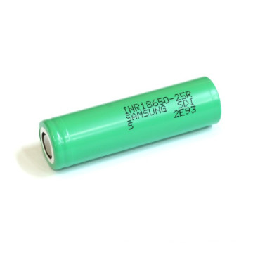 for Samsung-25r Green 3.7V 2500mAh Lithium-Ion Battery 25A Discharge